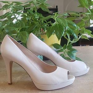 Antonio Melani Real Leather White/Cream Heels